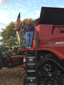 Dad loves to combine.  He has seen some pretty amazing changes in the machines!