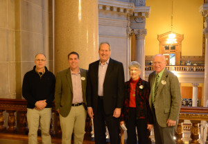 Boone County Farm Bureau visits the State House. Shown with Senator Phil Boots.
