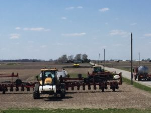 Getting the planters ready to roll.